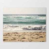 Walking In The Sand Canvas Print