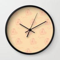Bicycle Print Design  Wall Clock
