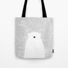 Its A Polar Bear Blinking In A Blizzard Tote Bag