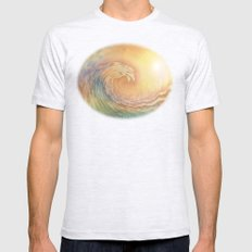 Cosmic Wave Mens Fitted Tee Ash Grey SMALL