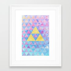 Zelda Geometry Framed Art Print