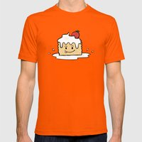 Tres Leches Mens Fitted Tee Orange SMALL