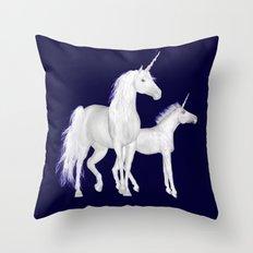 FANTASY - Unicorns Throw Pillow