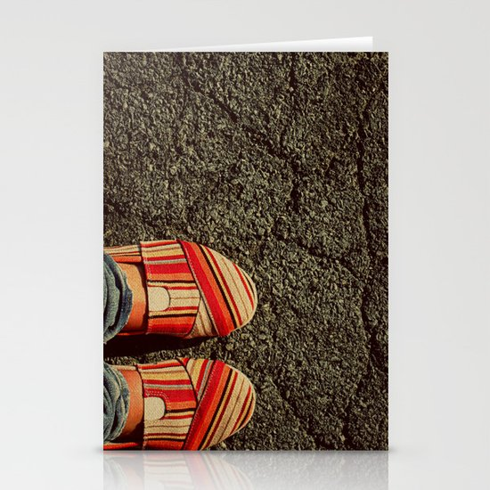Shoes on Cement Stationery Card