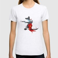 Red Hood & The Badass Wo… Womens Fitted Tee Ash Grey SMALL