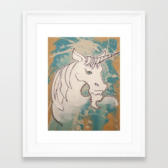 Goatees Not Just for Goats Framed Art Print