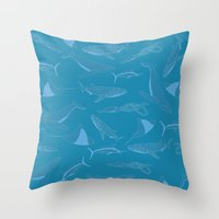 Giants Of The Sea Throw Pillow