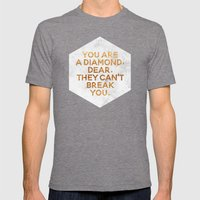 You are a diamond, dear. Mens Fitted Tee Tri-Grey SMALL