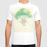 Broccoli Bouquet Mens Fitted Tee White SMALL