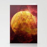 Retro Nebula Stationery Cards