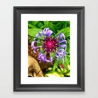 Funky Flower Framed Art Print