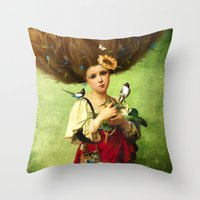 Throw Pillows featuring Warm Embrace by Diogo Verissimo