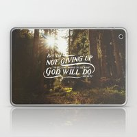 NOT GIVING UP Laptop & iPad Skin