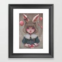 Juliette, Balloons & Pea… Framed Art Print