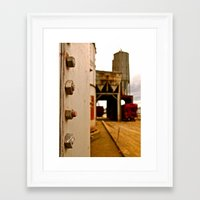 Framed Art Print featuring Grain depot by Vorona Photography