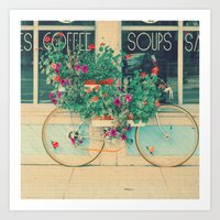 Summer Bicycle Art Print