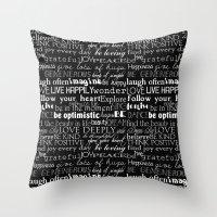 Inspirational Words Throw Pillow