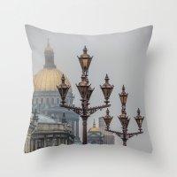 Street lights of Saint Petersburg  Throw Pillow
