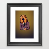 Dog News Framed Art Print