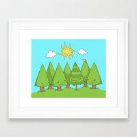 The Pine Forest Framed Art Print