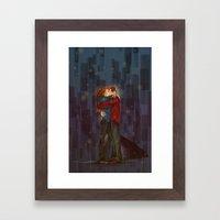 Kiss, Sans Umbrella Framed Art Print
