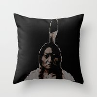 #1 Sitting Bull - RIP (R… Throw Pillow