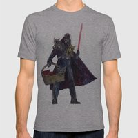 Cat Dad Vader Mens Fitted Tee Athletic Grey SMALL