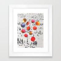 BEACH BALLS Framed Art Print
