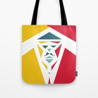 Five Triangle Faces - The Entertainer Tote Bag