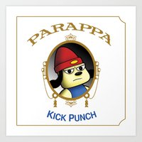 Parappa - Kick Punch Art Print