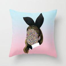 Playboy Bunny Girl Throw Pillow