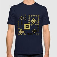 shapes Mens Fitted Tee Navy SMALL