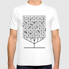 Tree Collection -2 SMALL White Mens Fitted Tee