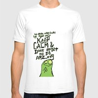 Keep Calm and stay Amazing Mens Fitted Tee White SMALL