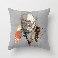 Throw Pillow featuring Curtis mayfield by Fitacola