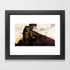 Black idol Framed Art Print