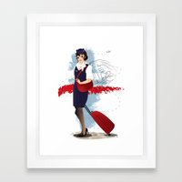 Come fly with me, let's fly, let's fly away - Poland Framed Art Print