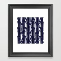 Create (dark Blue Versio… Framed Art Print