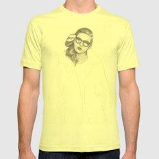 No.5 Fashion Illustration Series Mens Fitted Tee Lemon SMALL