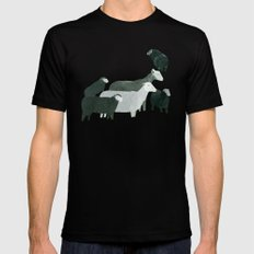 Sheep SMALL Black Mens Fitted Tee