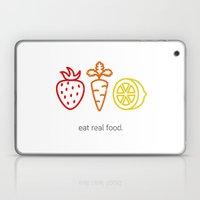 Eat Real Food. (light) Laptop & iPad Skin