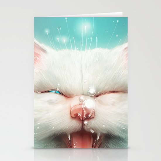 The Water Kitty Stationery Card