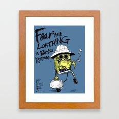Fear and Loathing in Bikini Bottom Framed Art Print