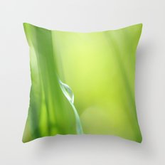 Green /Tear drop in the Green  Throw Pillow