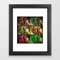 Strange Model Framed Art Print