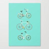 Trois Vélos Canvas Print