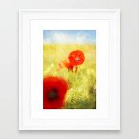 summer painting Framed Art Print