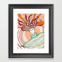 En mis sueños Framed Art Print