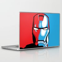 iron man Laptop & iPad Skins featuring Iron Man by C.Rhodes Design