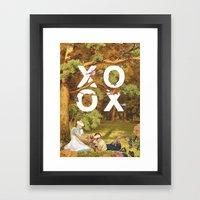 Oh, Xoxo... Framed Art Print